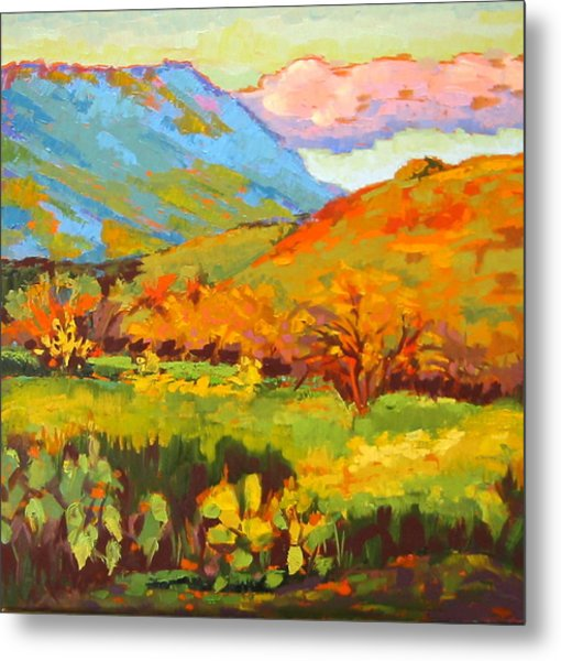 Turquoise Mountain Coral Hill Metal Print