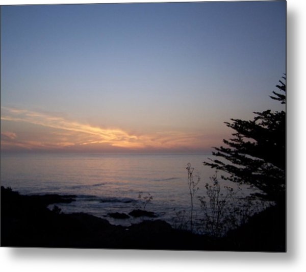 Twilight Coastline Metal Print