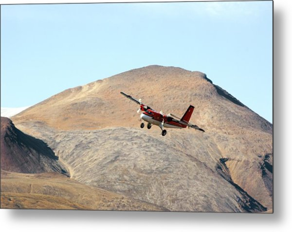 Twin Otter Aircraft Landing Photograph By Dr Juerg Alean
