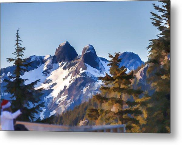 Twin Peaks Painting Metal Print