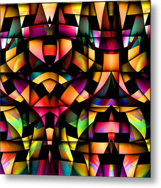 Metal Print featuring the digital art Twisted by Visual Artist Frank Bonilla