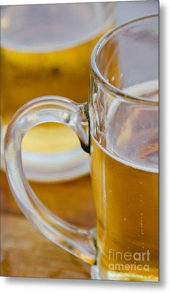 Two Glasses Of Beer Metal Print