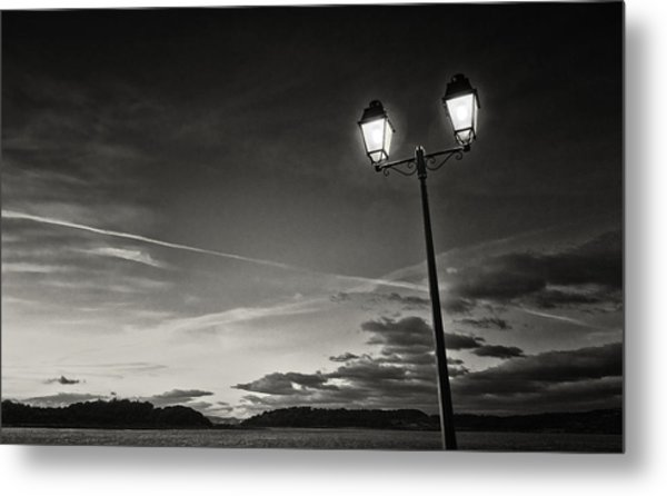 Two Lights At The Sunset Metal Print by Philippe Taka