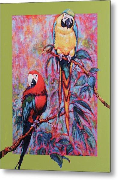 Captive Birds Of The Rain Forest Metal Print