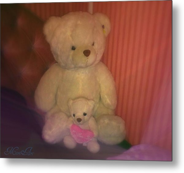 Two Teddies  Metal Print