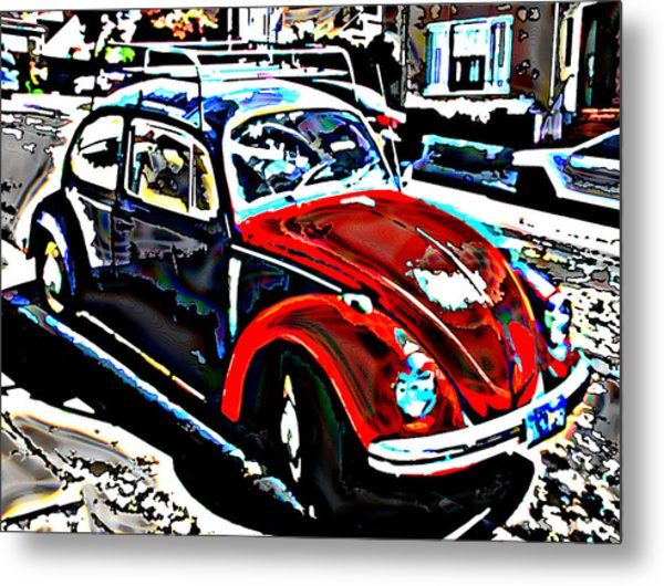 Two Toned Vw Beetle Metal Print