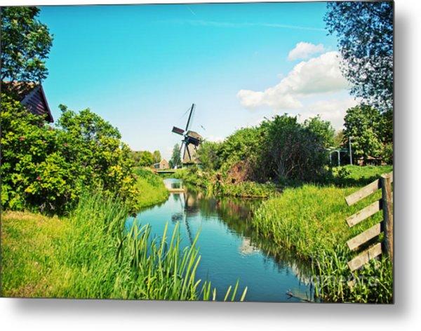 Typical Dutch  Windmill Metal Print