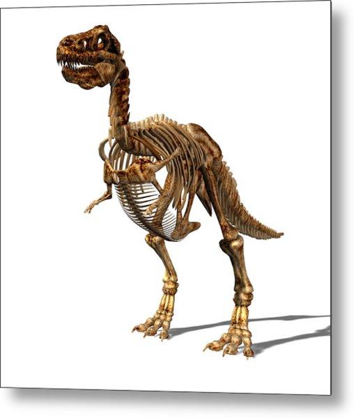 Tyrannosaurus Rex Dinosaur Metal Print by Friedrich Saurer