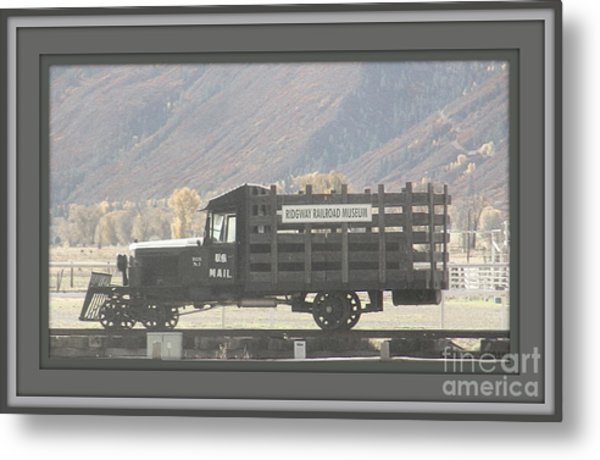 U. S. Mail N Rail Metal Print