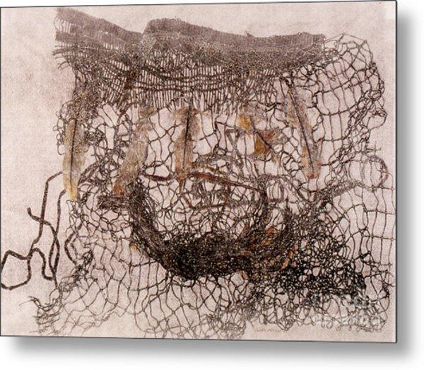 Un Becoming Basket Metal Print by Charles B Mitchell