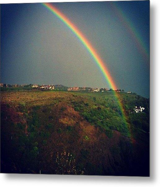 Unbelievable Double Rainbow Right Below Metal Print