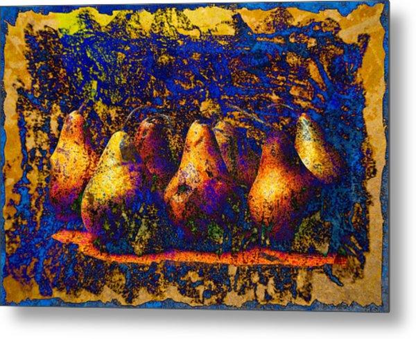 Unborn Pears Metal Print