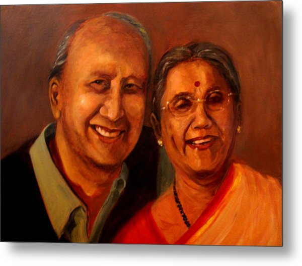 Uncle And Aunt Metal Print