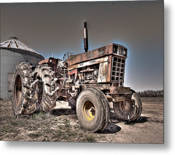Uncle Carly's Tractor Metal Print
