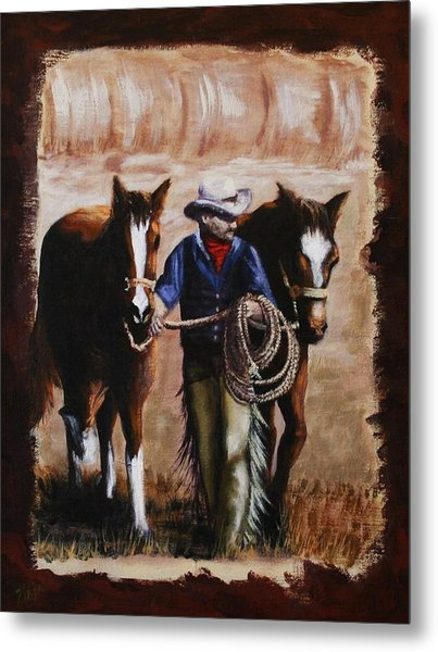 Uncle Charlie's Morning Walk Metal Print