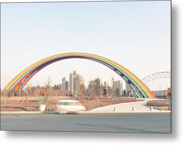 Under Rainbow Metal Print by Andy Brandl