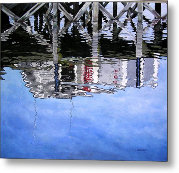 Under The Dock Metal Print by Judy Burgarella