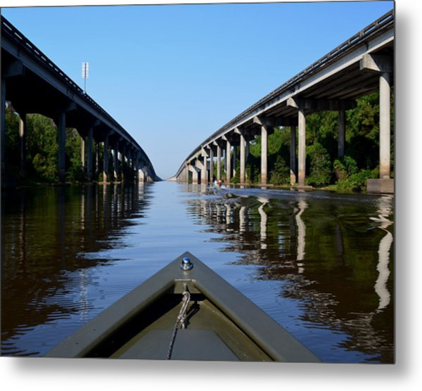 Under The Interstate Metal Print