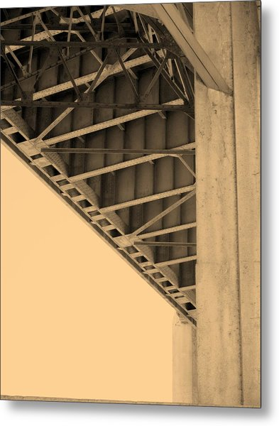 Underside Of 6th Street Bridge Metal Print by Kevin  Break