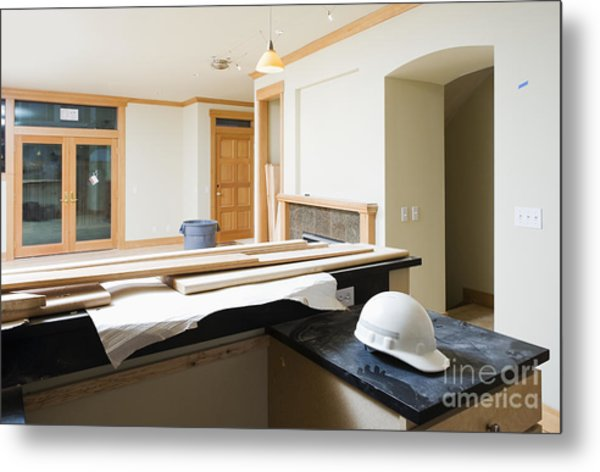 Unfinished Home Interior Metal Print