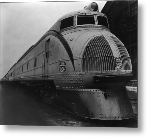 Union Pacific Loco Metal Print by Welgos