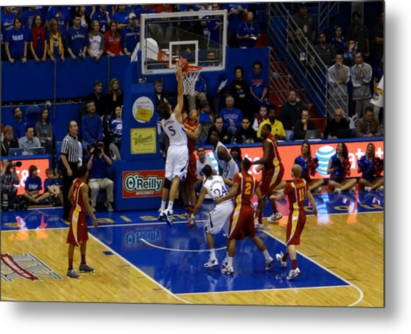 University Of Kansas Jeff Withey Metal Print