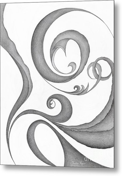Unnamed Sketch 05 Metal Print by Joanna Pregon