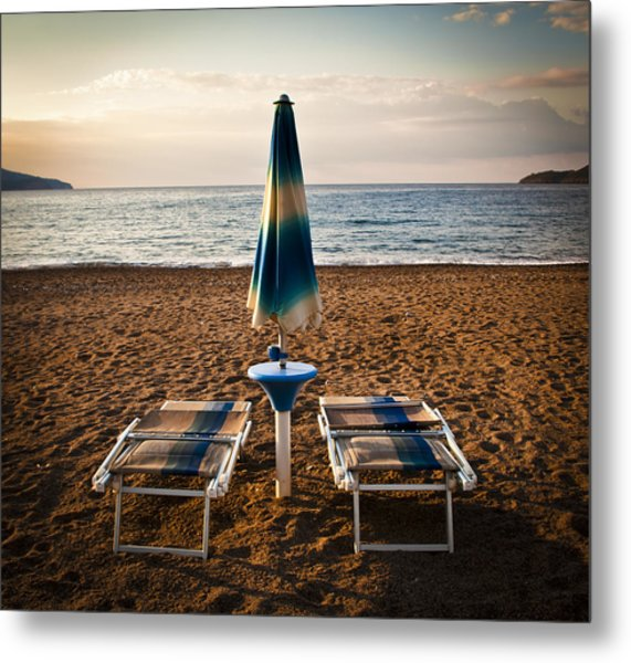 Unopened Metal Print by Akos Kozari