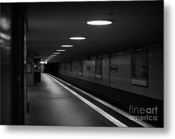 Unter Der Linden Ghost Station U-bahn Station Berlin Germany Metal Print by Joe Fox