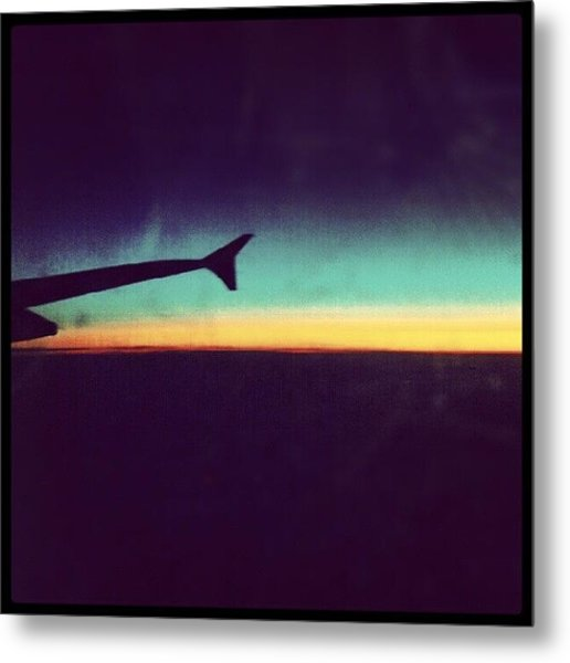 Up In The Air :) On My Way To #london Metal Print