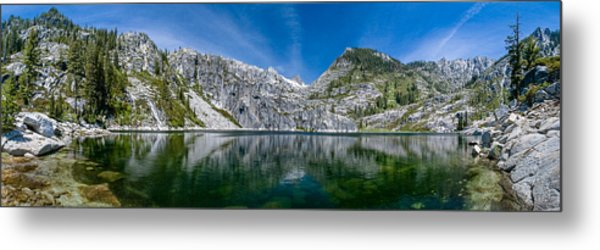 Upper Canyon Creek Lake Panorama Metal Print