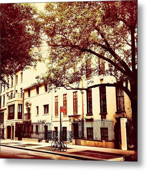 Upper East Side Street - New York City Metal Print