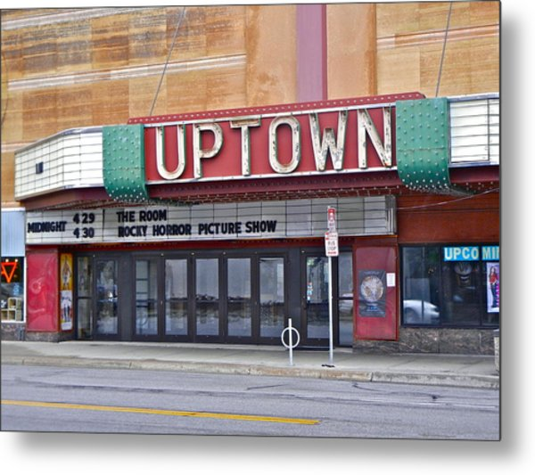 Uptown Theatre Metal Print by David Ritsema