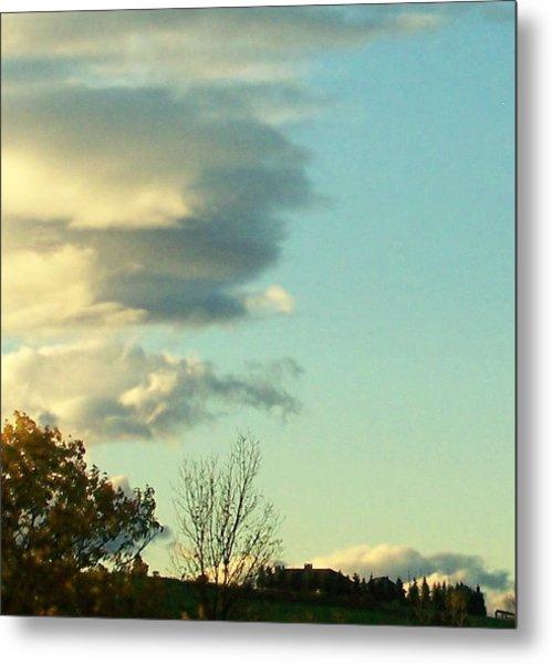 Upward Clouds Metal Print