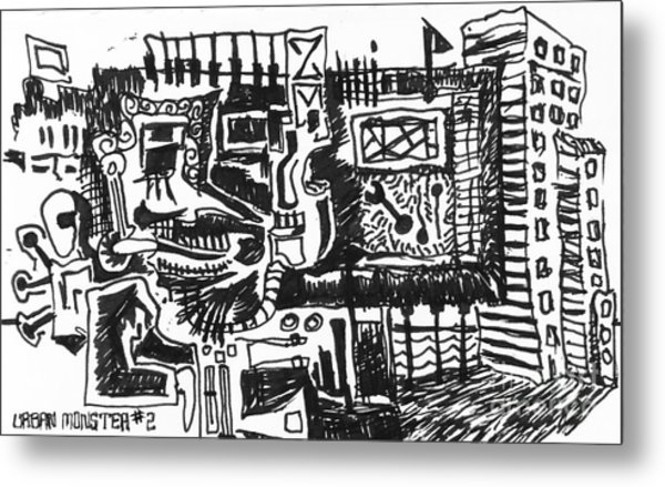 Urban Monster 2 Metal Print