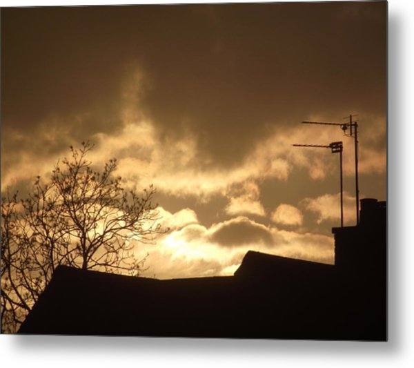 Urban Sunset In April 2012 Metal Print