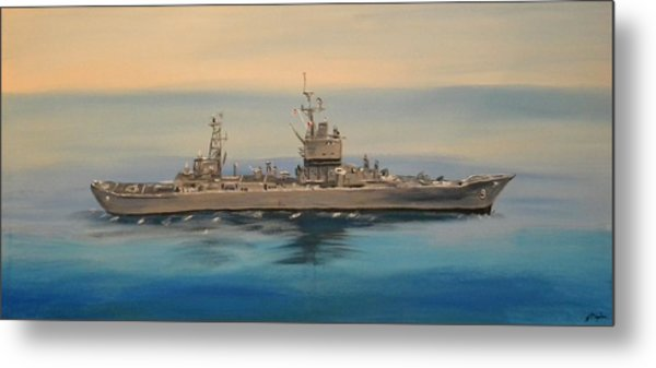 Uss Long Beach Metal Print