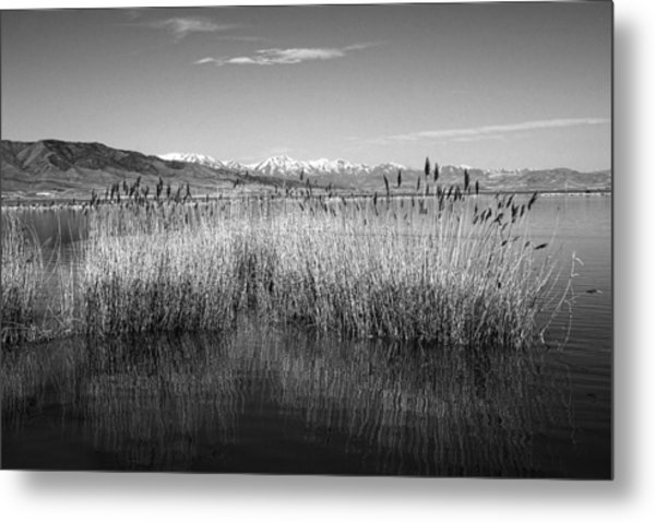 Utah Lake And Wasatch Mountains Metal Print