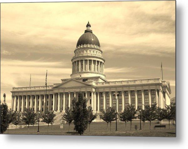 Utah State Capital Metal Print