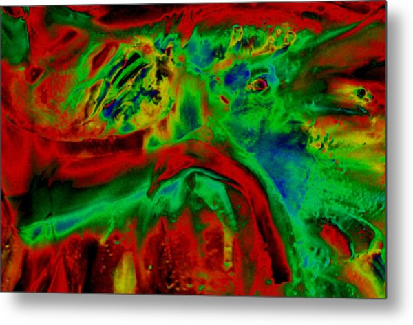 Uv Solar - Red Metal Print by Colleen Cannon