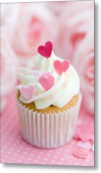 Valentine Cupcake Metal Print by Ruth Black