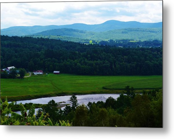 Valley Maine Metal Print by Josee Dube