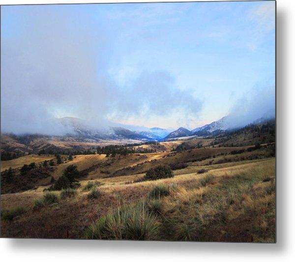 Valley Mist Metal Print by Ric Soulen