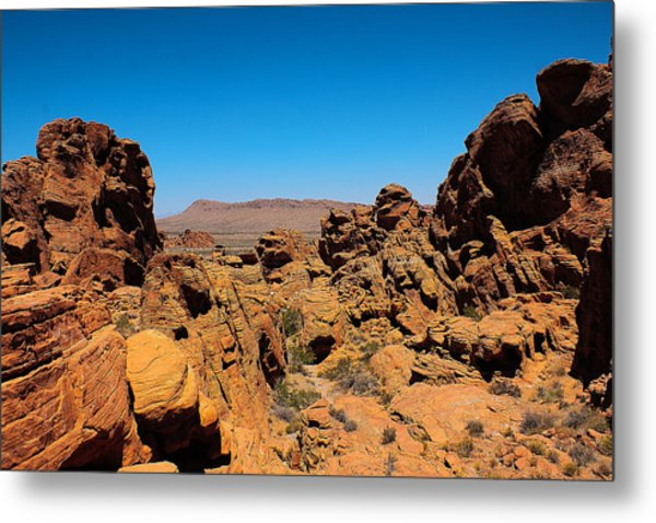 Valley Of Fire Metal Print by Ryan Baxter
