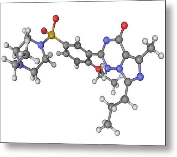 Vardenafil Erectile Dysfunction Drug Metal Print by Laguna Design