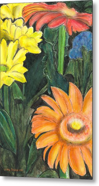 Vasco's Flowers Metal Print