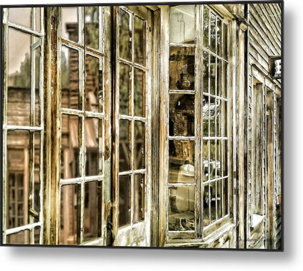 Vc Window Reflection Metal Print