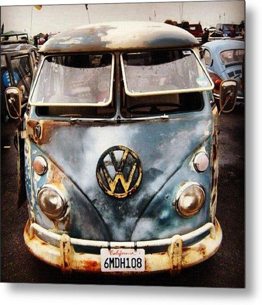 #vdub #vwbus #vwlove #vw #volkswagen Metal Print