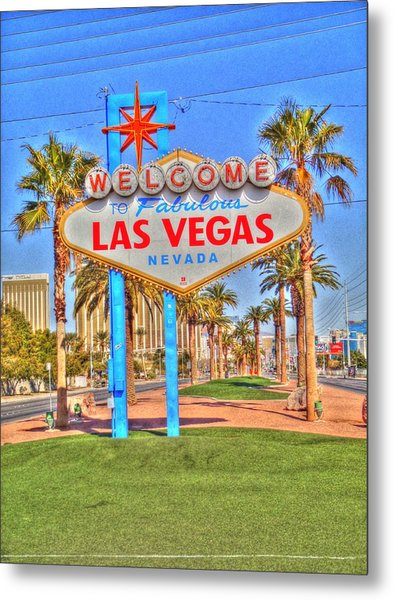 Vegas Metal Print by Barry R Jones Jr