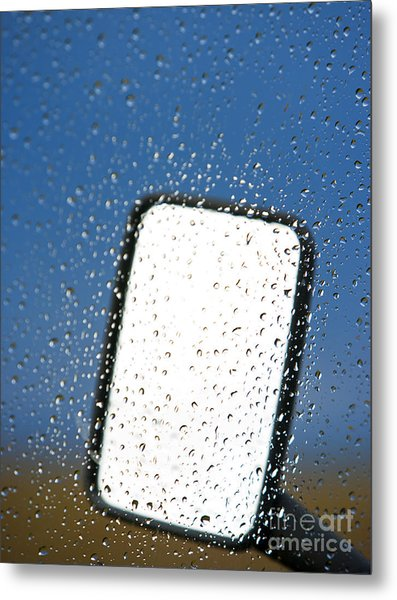 Vehicle Side Mirror Metal Print by David Buffington